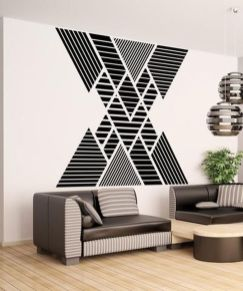 Inspiring Creative DIY Tape Mural for Wall Decor 5