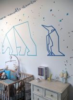 Inspiring Creative DIY Tape Mural for Wall Decor 52