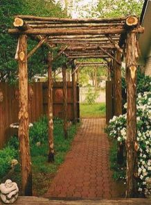 Stunning Creative DIY Garden Archway Design Ideas 18