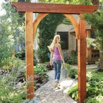 Stunning Creative DIY Garden Archway Design Ideas 28