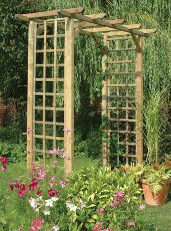 Stunning Creative DIY Garden Archway Design Ideas 44