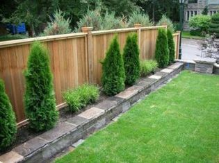Stunning Privacy Fence Line Landscaping Ideas 7