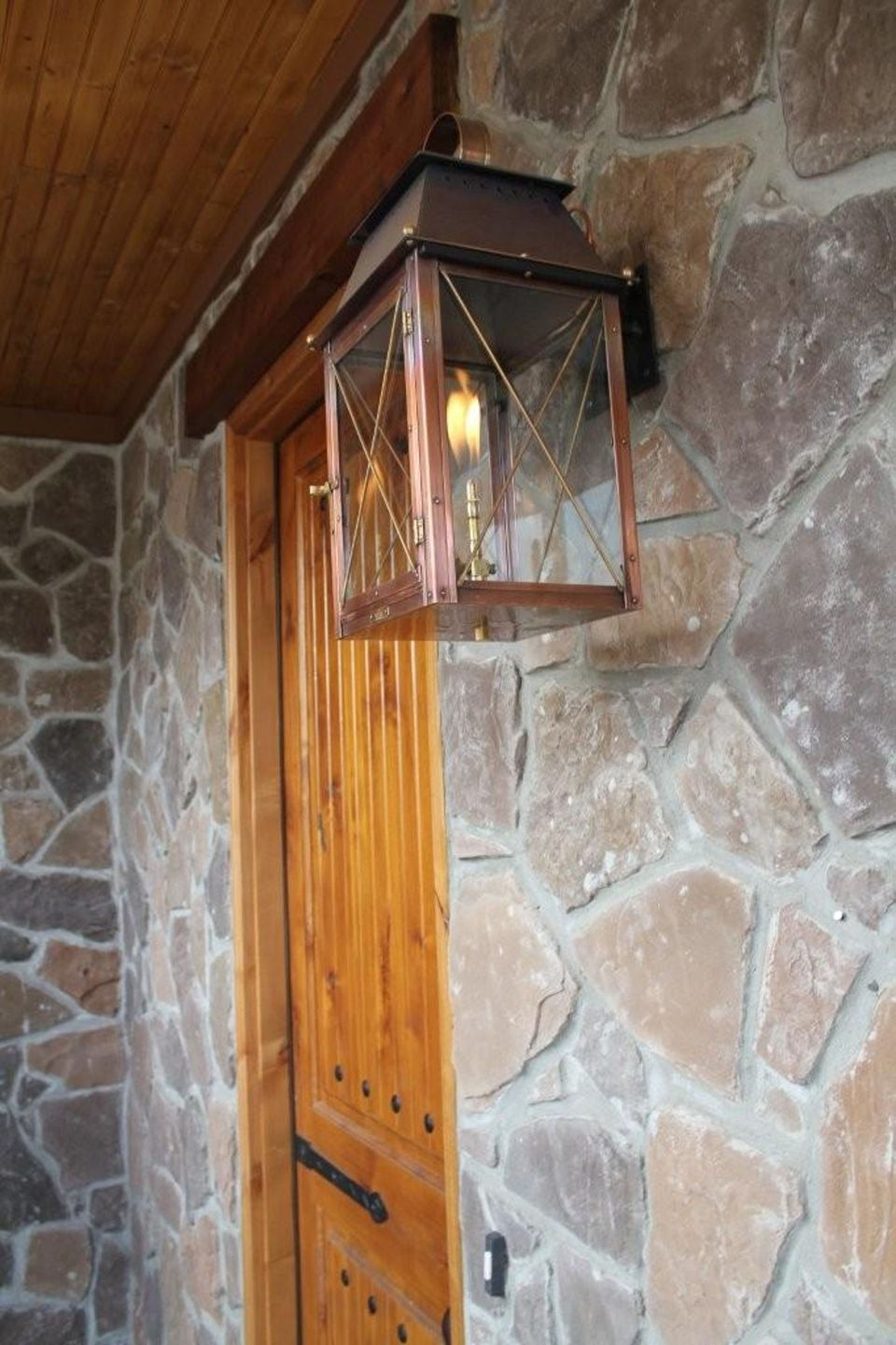 Vintage Hanging Gas Lanterns for Front Door Decorations 1