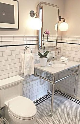Vintage and Classic Bathroom Tile Design 13