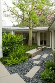 Modern and Contemporary Front Yard Landscaping Ideas 42