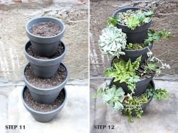 25 Simple Ideas to Make Cascading Garden Planter 11