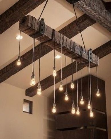 Breathtaking Rustic Ceiling Light Design 19