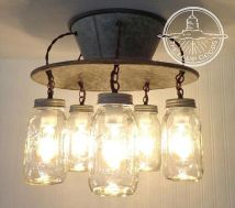 Breathtaking Rustic Ceiling Light Design 25
