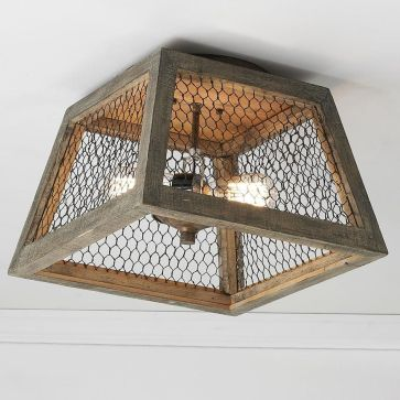 Breathtaking Rustic Ceiling Light Design 53