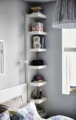 Corner Wall Shelves Design Ideas for Living Room 13