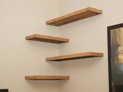 Corner Wall Shelves Design Ideas for Living Room 23