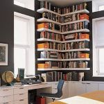 Corner Wall Shelves Design Ideas for Living Room 30