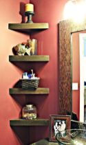 Corner Wall Shelves Design Ideas for Living Room 52