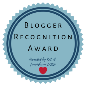 Blogger Recognition Award for Rocking the Spectrum