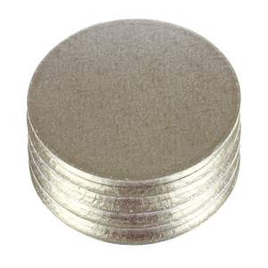 Silver Round Cake DRUM (33 cm)- Thick