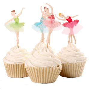 Ballerina Cupcake Toppers (Pack of 24)