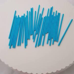 Blue Paper Cake Pop Sticks 10 cm (pack of 35)
