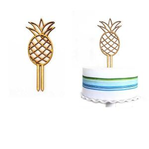 Wooden Pineapple Cake Topper
