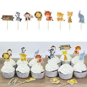 Wild Animals Cupcake Toppers (Pack of 24)