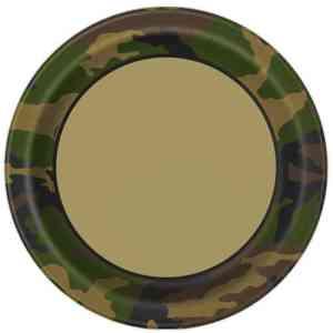 Military Plates 23 cm (8 pieces)