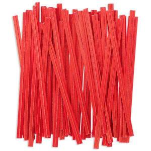 Red Twist Ties 7cm (100 pieces)
