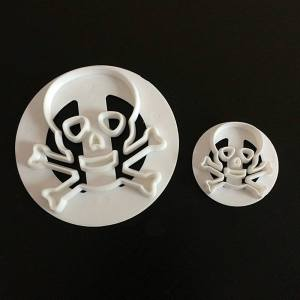 Skull Sugar Paste Cutter Set (2 pieces)