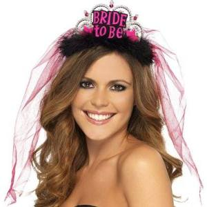"Tiara and Veil ""Bride To Be"""
