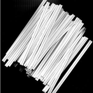 White Twist Ties 7cm (100 pieces)