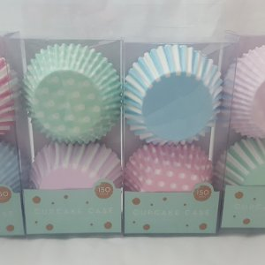 Pastel Colours Cupcake Cases (Pack of 150)