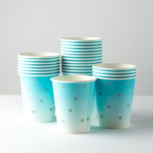 Confetti Blue Paper Cups (24 pieces)