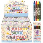 4 color wax crayons BULK BUY - Pack of 120