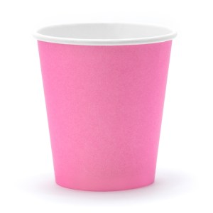 PINK paper cups (6 pieces)