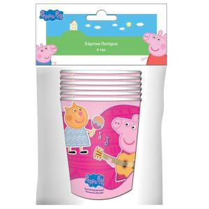 Peppa Pig Paper Cups (6 pieces)