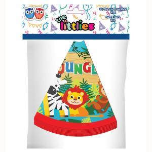 Jungle Animals Cone Hats (6 pieces)