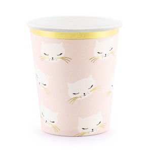 Kitty Pink Cups (6 pieces)