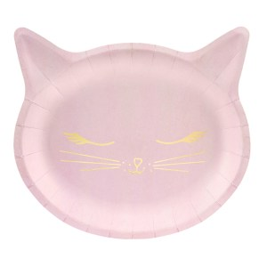 Kitty Pink Plates 22x20cm (6 pieces)