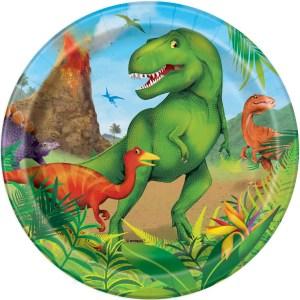 Dinosaurs Plates 18cm (8 pieces)