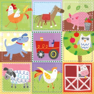 Farm Napkins (Pack of 16)