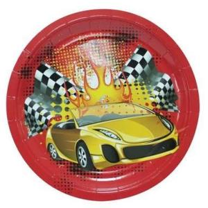 Racing Cars Plates 23cm (6 pieces)