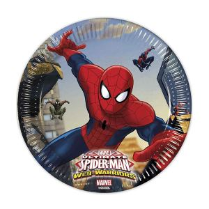 Spiderman Plates 20cm (8 pieces)