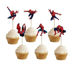 SPIDERMAN Cupcake Toppers (pack of 24)