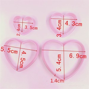 Heart cutters set of 4
