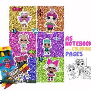 L.O.L. Coloring Book 14x20cm & Crayons Gift