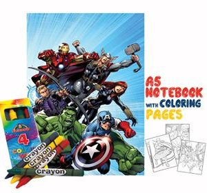 Avengers coloring book 14x20cm & Crayons Gift