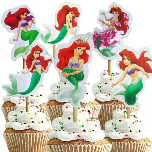 Ariel Cupcake Toppers (pack of 24)