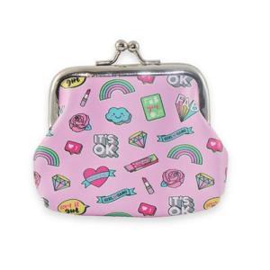 Key Chain Wallet / Πορτοφολάκι Μπρελόκ #pink color TESORO (9x6cm)