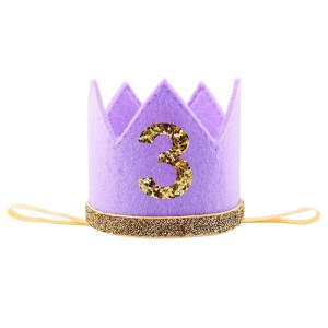 Purple/Gold Crown Number 3