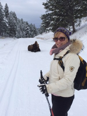 Woman and Bison