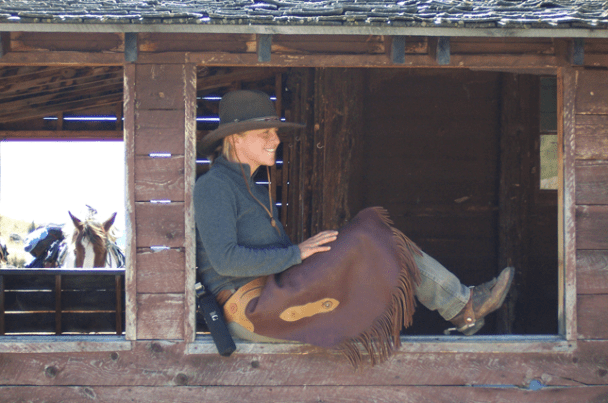 Beth Posing in Chaps