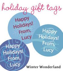 holiday gift tags 2009b